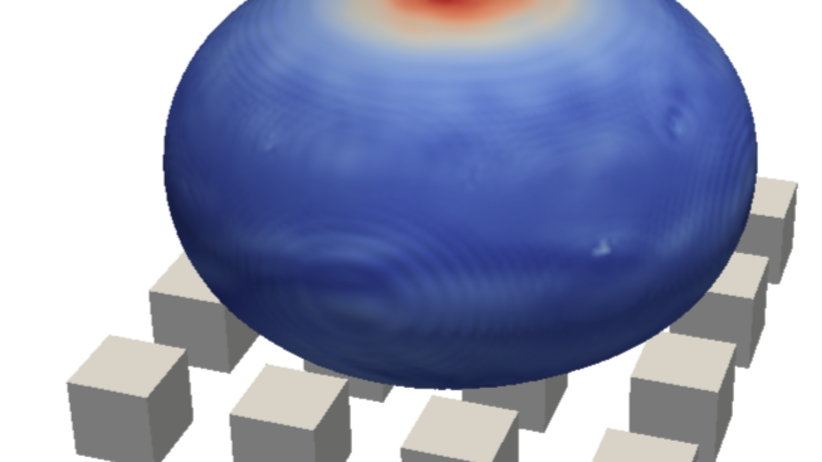 Numerical simulation of droplet impacting on a structured surface  (c)  M. Baggio, ITLR