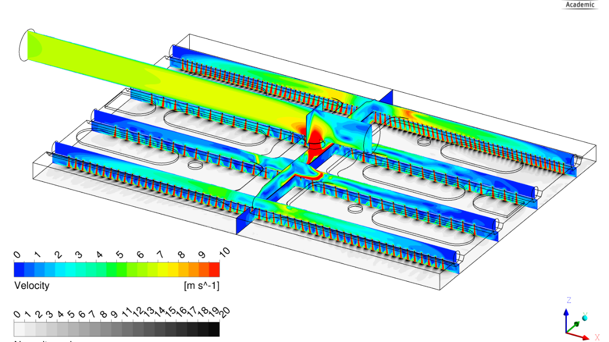 Numerical investigation of the flow and heat transfer behaviour of ACC panel systems