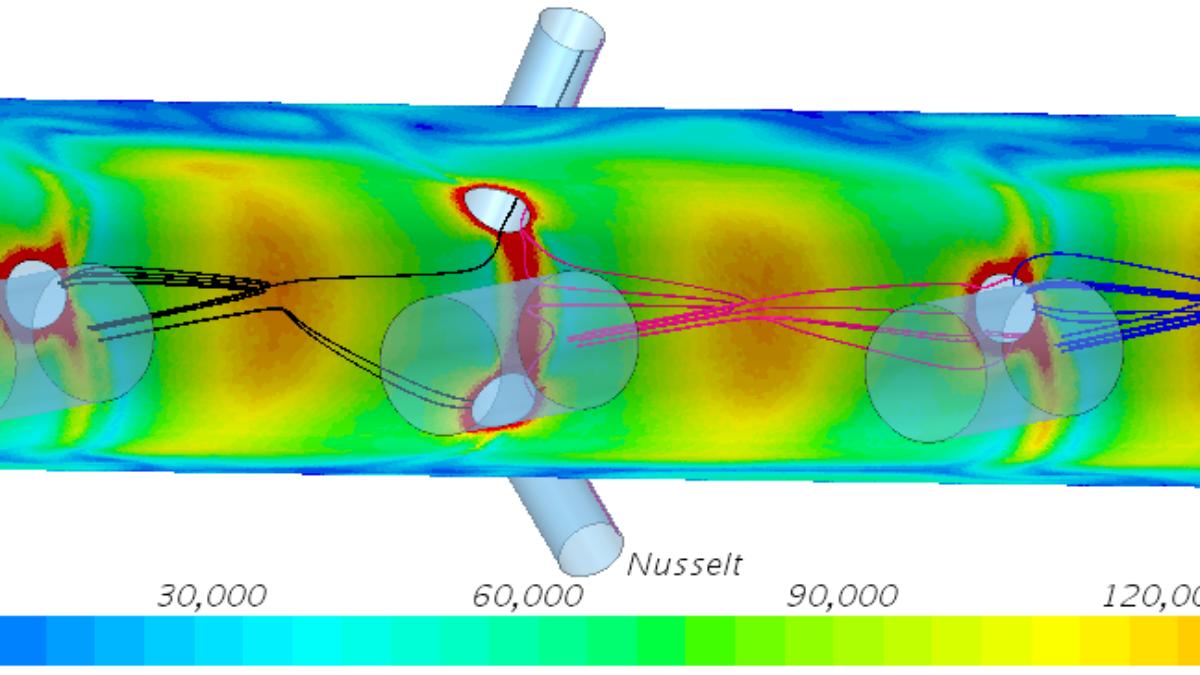 Impingement curved surface streamline  (c) M. Forster (ITLR)