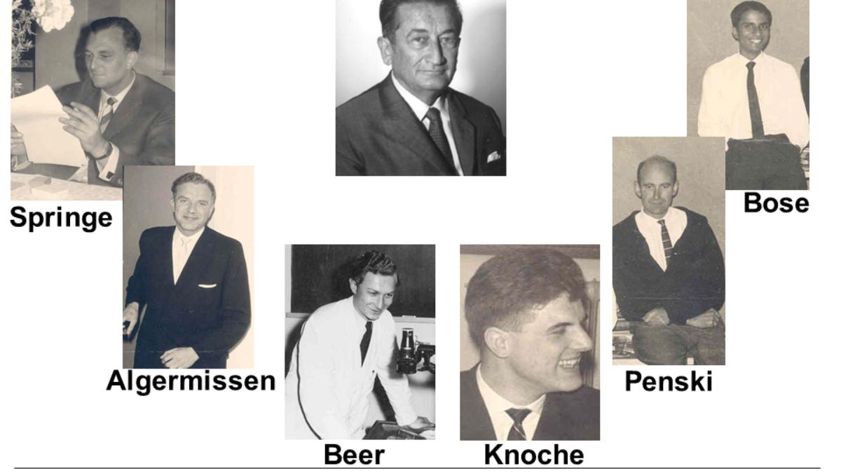 Prof. Bošnjaković und seine ersten Mitarbeiter in Stuttgart. (c)